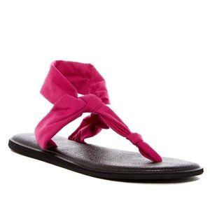Sanuk Yoga Mat Sling Thong Strap Sandals Shoes